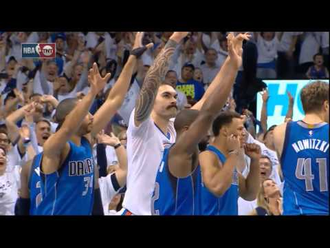 Steven Adams' game-winning buzzer beater vs Dallas (didn't count) - NBA Playoffs