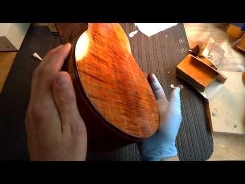 Part 2- Wood staining sanding and ca grain filling Beau Hannam Guitars & Ukuleles