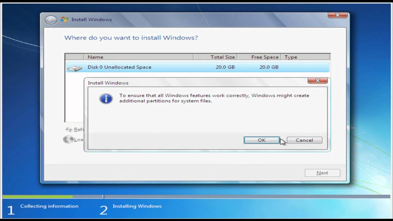 how to change the default hard drive on windows 7