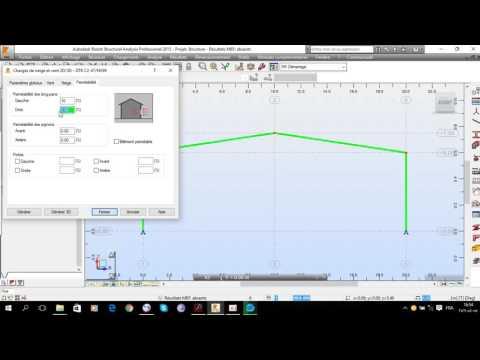charpente métallique étude de vent (Wind study) (technology civil engineering)