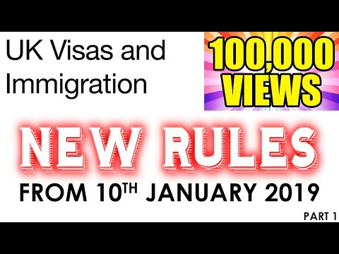 NEW CHANGES IN UK IMMIGRATION RULES 2019 |SPOUSE VISA|WORK
