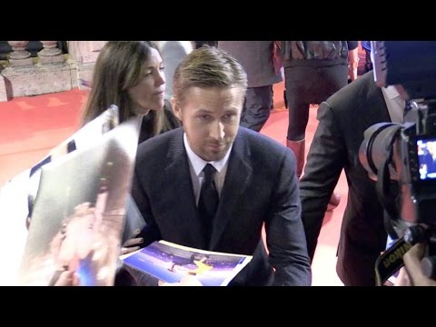 Golden Globe winner Ryan Gosling at the La La Land Premiere