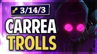¡CARREANDO TROLLS EN RANKED CON EVELYN JUNGLA! | League of Legends