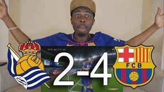 Real Sociedad vs Barcelona 2-4 All Goals  Live Reaction