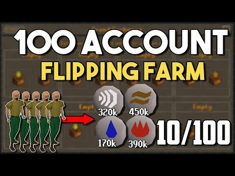 Thumbnail: Building an Insane 100 Account Flipping Farm! [Accounts 6 to 10] Flipping on 100 Accounts [OSRS]