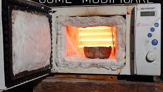 Convert Microwave to Melt Aluminum & Metals