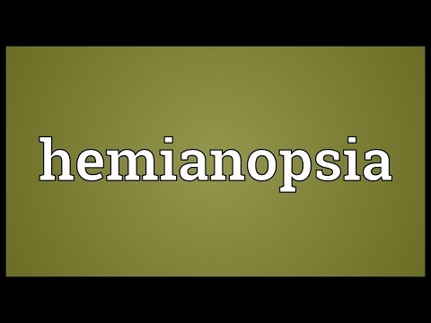 Header of hemianopsia