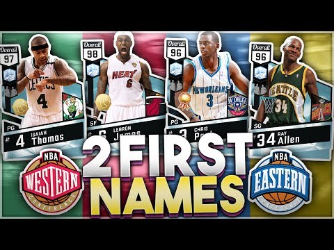 PLAYERS WITH TWO FIRST NAMES SQUAD BUILDER! NBA 2K17