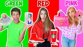 Download BUYING Everything In ONE COLOR For 24 Hours CHALLENGE! Mp3 and Videos