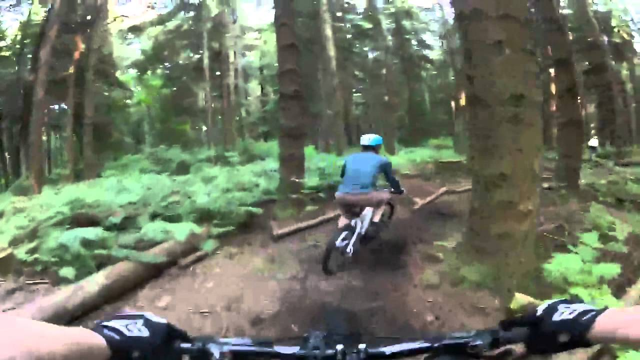 Mountain Biking In Stanley Park July 2012 Youtube