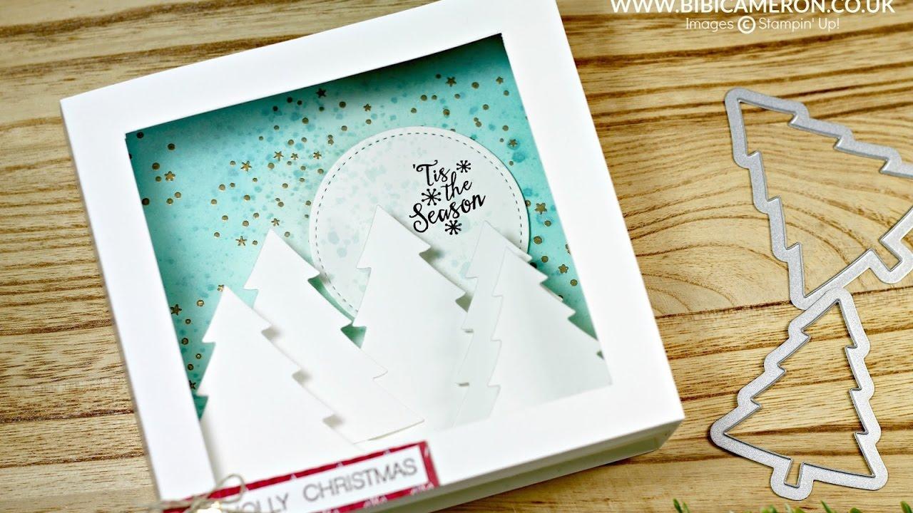 Easy Shadow Box Card ( Christmas Cards) - YouTube