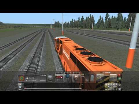 Train Simulator 2015 part 3. Switching cabs and junctions, coupling, loading passengers