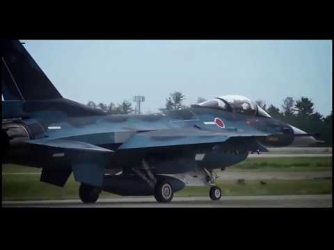 Japan F-2 fighter jet airshow