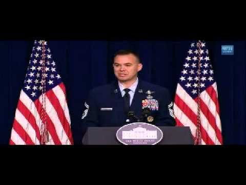 SMSgt Alexander Hall speaking at the White House Credentialing and Licensing Initiative