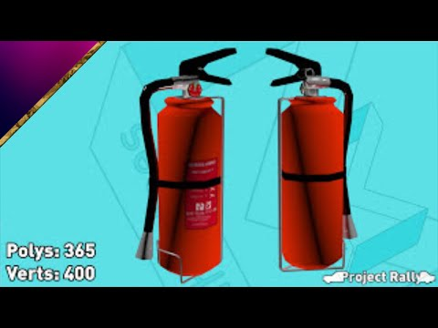 Project Rally - Modelling a fire extinguisher