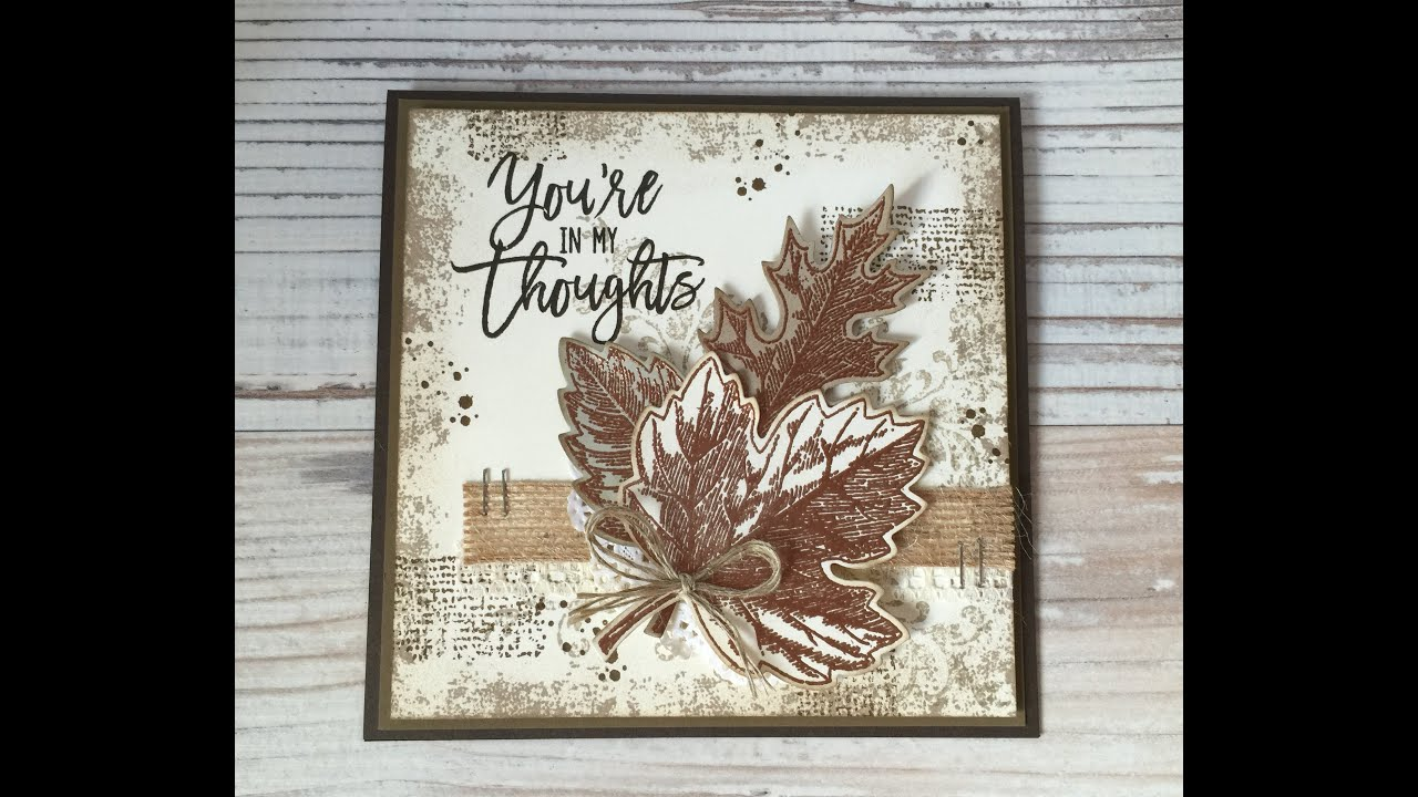 Vintage Look Selber Machen Stampin' Up! Vintage Leaves - Youtube