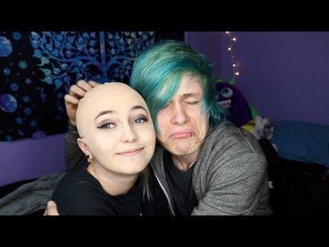 Pranking my boyfriend by shaving my head