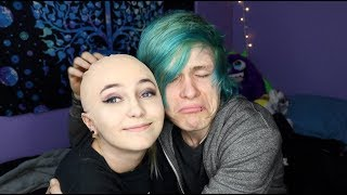 Pranking my boyfriend by shaving my head
