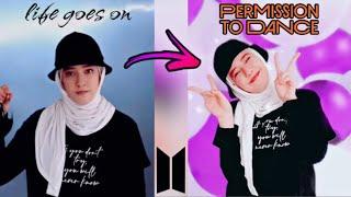 Permission to dance challenge 💜 #permissiontodance #shorts