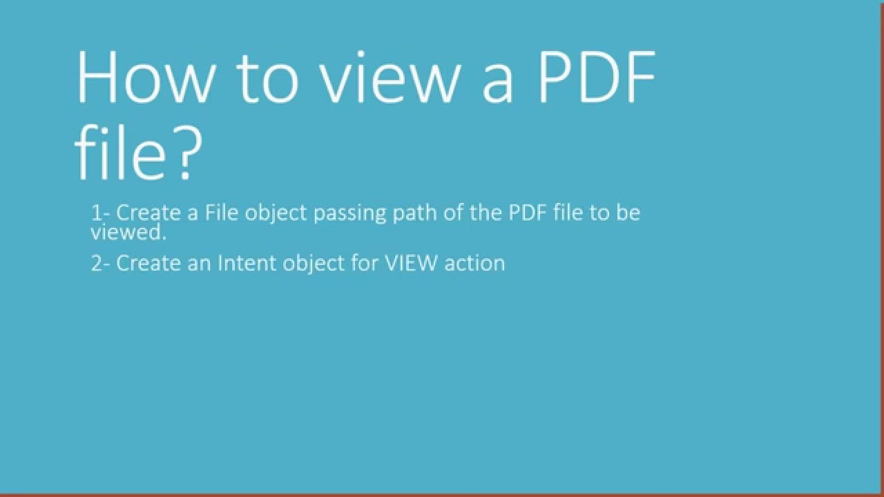 Androd view pdf file