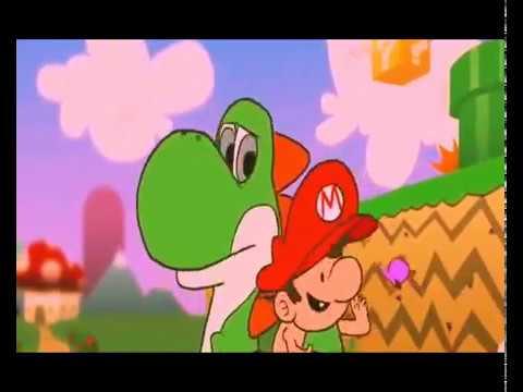 bebe mario y papa yoshi hd - Bebe Mario