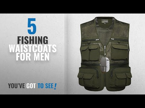 Top 10 Fishing Waistcoats For Men [2018]: Zicac Mens Outdoor Breathable Mesh Vest Multi-pocketed