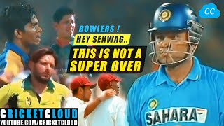 Sehwag thought its a Super Over | Epic Overs | Best of Virender Sehwag !!