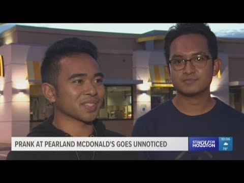 Prank at Pearland McDonald's goes unnoticed