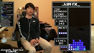 NES TETRIS -  1,161,620 (Level 19) World Record - 2/6/2019