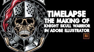 Timelapse process making of knight skull warrior