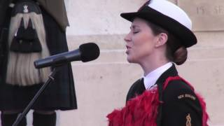 'Whakaaria Mai' performed at the New Zealand Dawn Service for the  Somme