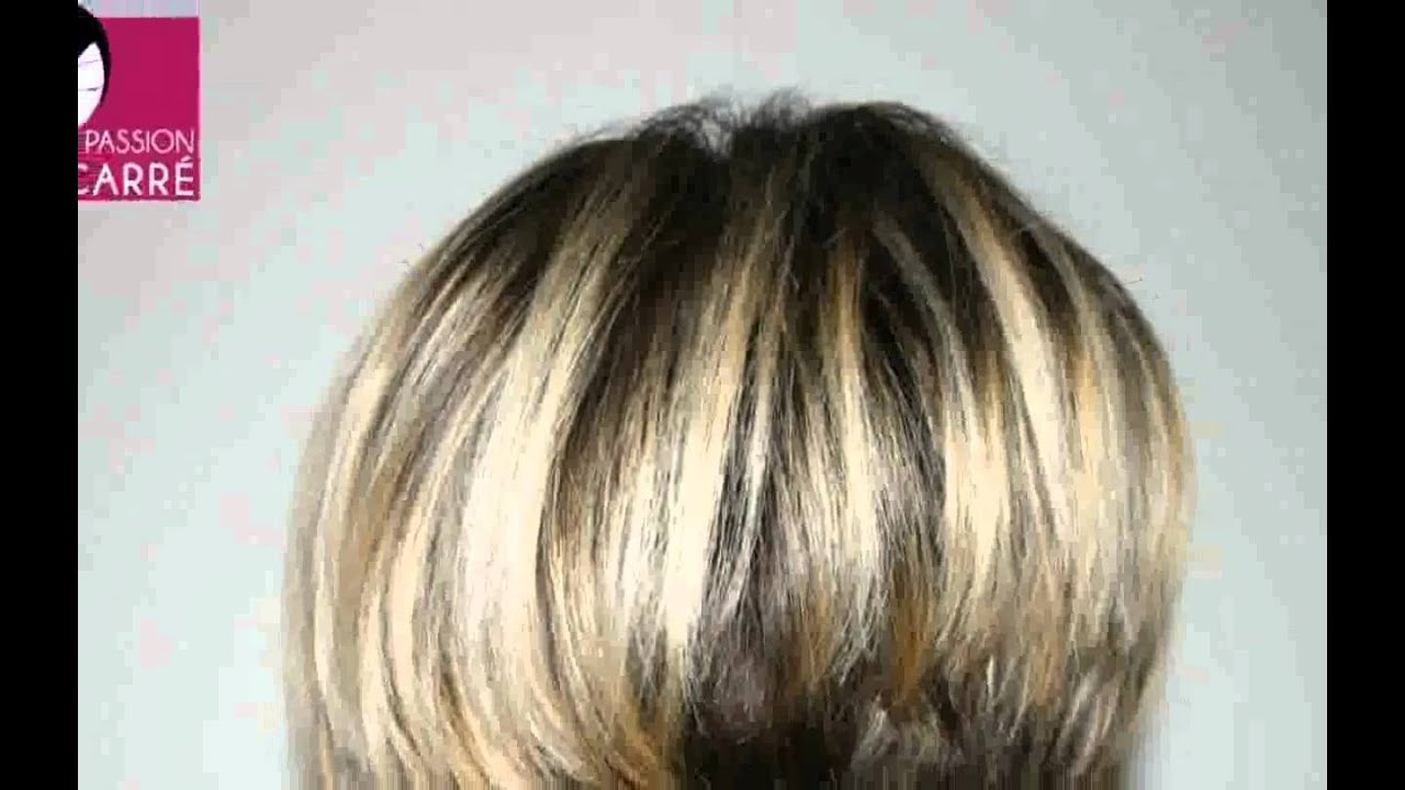Coupe de cheveux femme carr plongeant court youtube - Carre court degrade ...