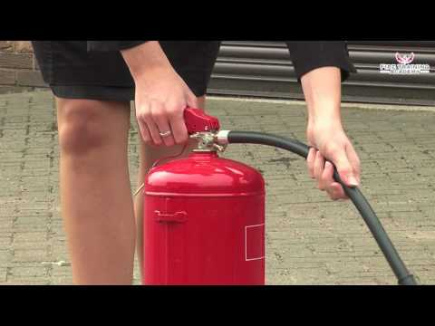 Fire Safety Training - How to Use a WATER Fire Extinguisher - YouTube