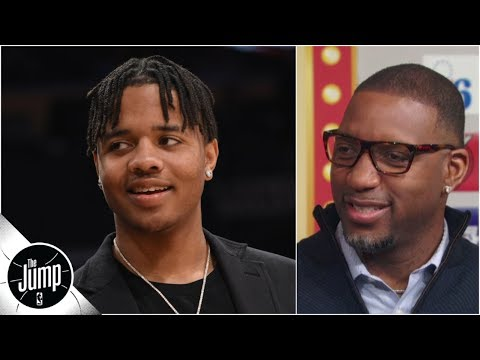 Tracy McGrady live reaction to Markelle Fultz/Magic trade: 'What?!' | The Jump