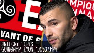 ANTHONY LOPES RÉAGIT APRÈS GUINGAMP - LYON (1-2) / Coupe de France - 7 février 2019