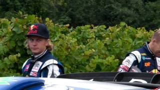 Kimi moments at the start of SS10 Rally France
