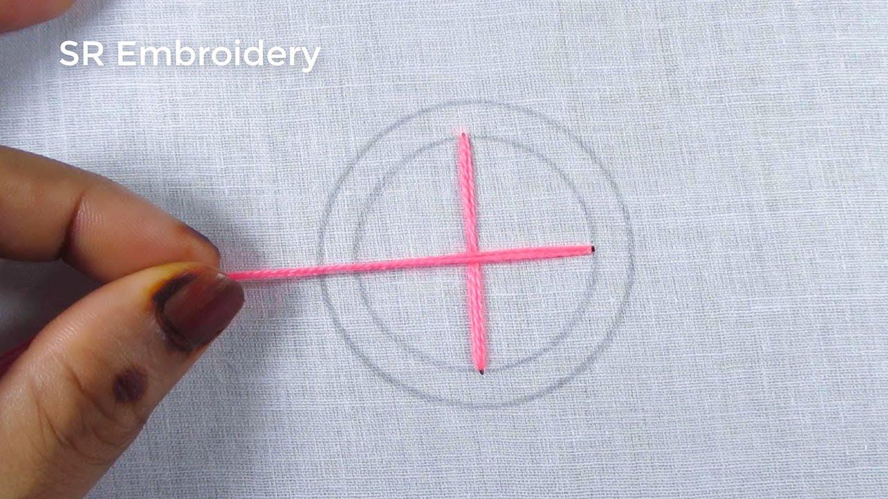 Amazing Circle Design Stitch,Hand Embroidery Circle Embroidery Stitch,For Cushion Cover