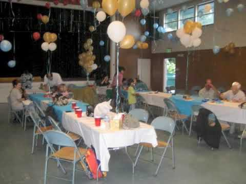 Grandpa 39 s 75th birthday party part 1 youtube for 75th birthday party decoration ideas