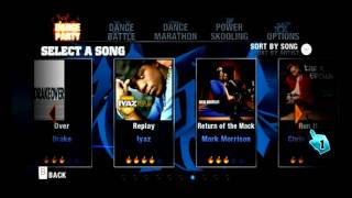 The Hip Hop Dance Experience - Wii - Song List