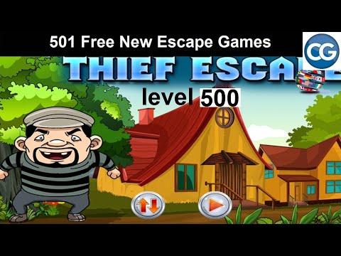 [Walkthrough] 501 Free New Escape Games Level 500 - Thief Escape - Complete Game