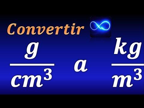 Cómo convertir g/cm^3  a  kg/m^3  (unidades de densidad)