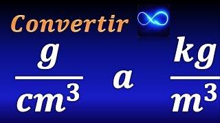 Como convertir gcm3 a kgm3 (unidades de densidad)