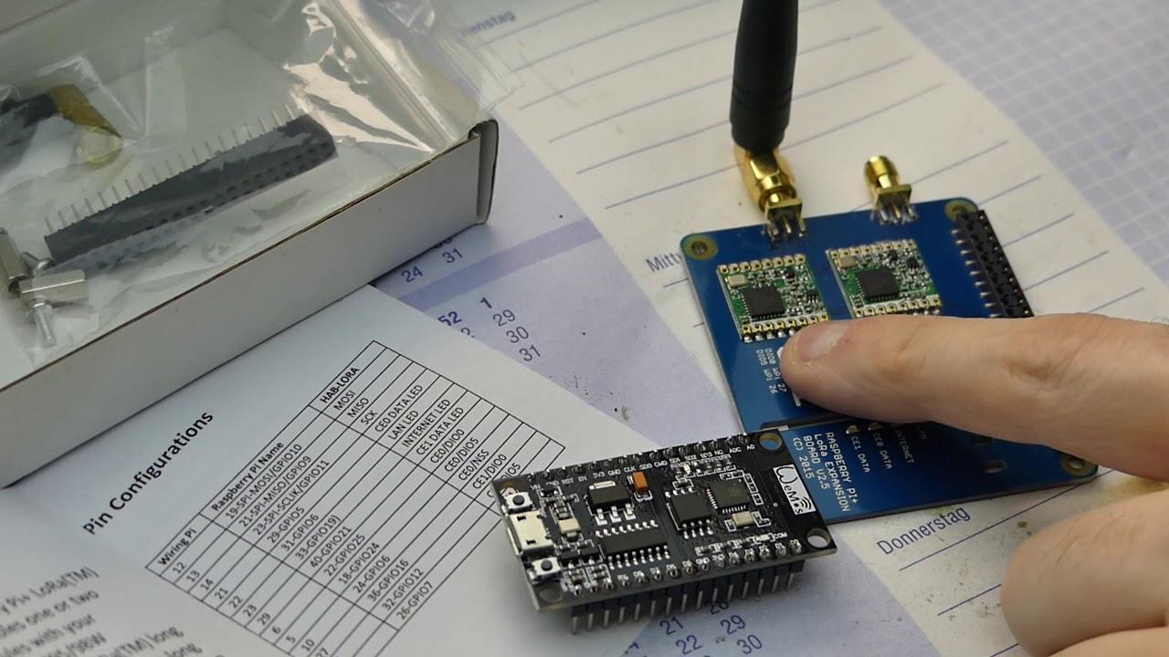 BitBastelei #311 - Lange Funkstrecken mit Arduino, LoRaWAN/RFM95W und The  Things Network