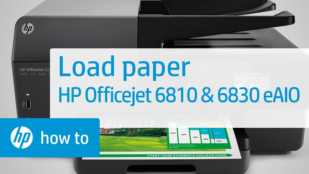 Loading Paper In The Hp Officejet 6810 And 6830 E All In One Printer