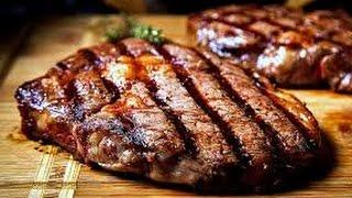 'Стейк мясника'  Шашлык из говядины под соусом из помидоров