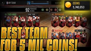 NBA Live Mobile - BEST TEAM FOR 5 MILLION COINS!! 83 OVR - 92 OVR FRANCHISE!! 5 MIL SHOPPING SPREE!
