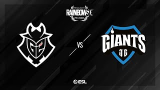 G2 Esports vs. Giants Gaming - Coastline - Rainbow Six Pro League - Season X - EU