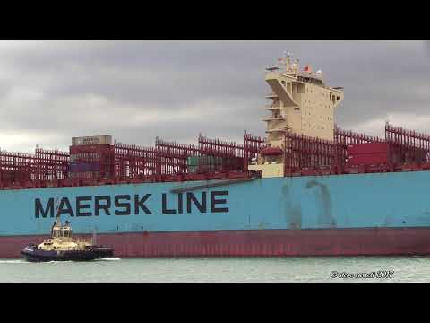 Maersk Emden - Maersk Line Container Ship calls into Southampton 28/10/17