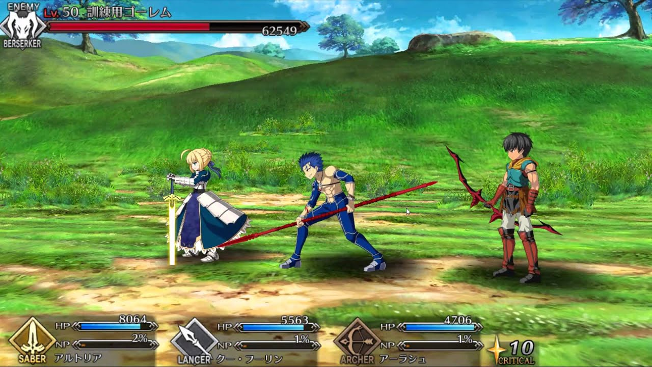 Image result for fate/grand order gameplay