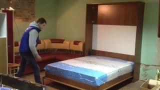 як зробити ліжко в стіні